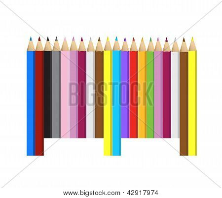 Color Pencils Barcode Upc Code
