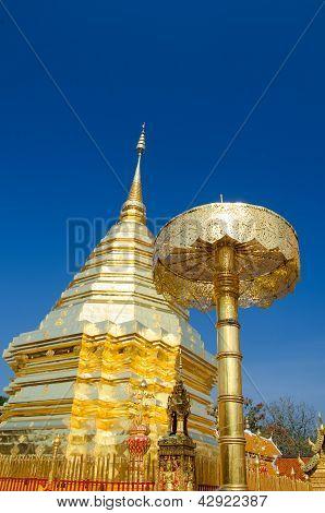 Golden Buddha Pagoda In Buddha Temple