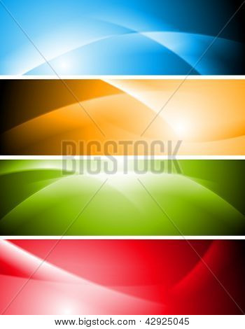 Abstract wavy colourful banners. Vector background eps 10