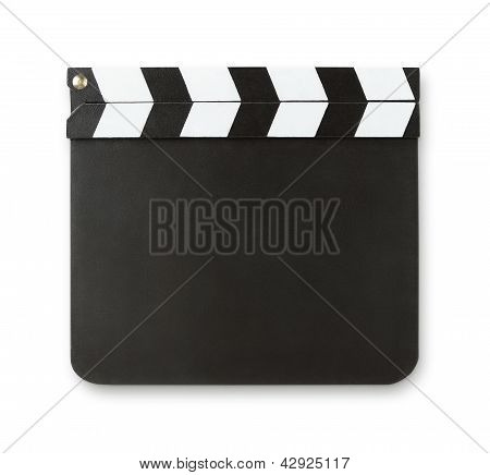 Blank clapboard with copy space