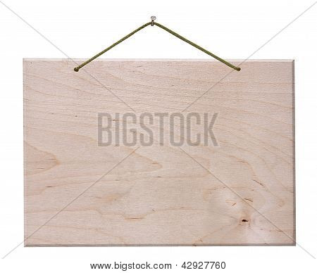 Wooden Signboard - Isolated With Clipping Path