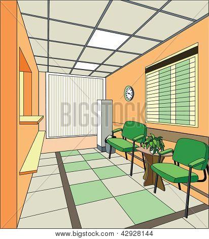 Modern hospital interior