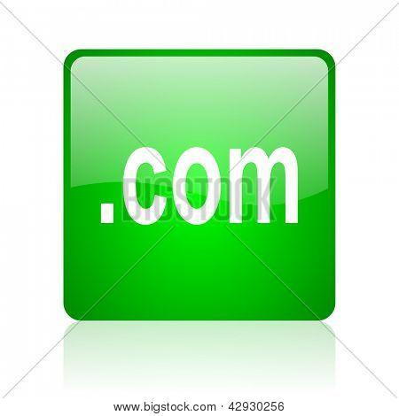 com green square web icon on white background