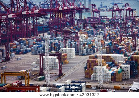 Busy Port In Hong Kong