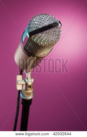 Sparkling Microphone Waiting For Star