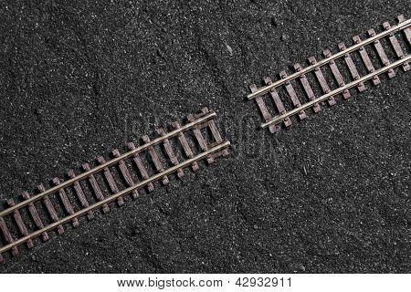 Gap Between Railroad Tracks