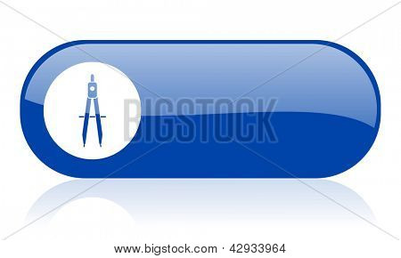 e-learning blue web glossy icon