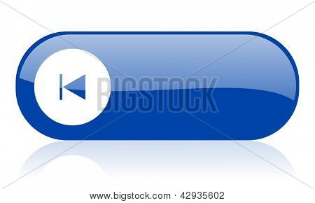 prev blue web glossy icon