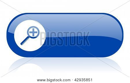 magnification blue web glossy icon
