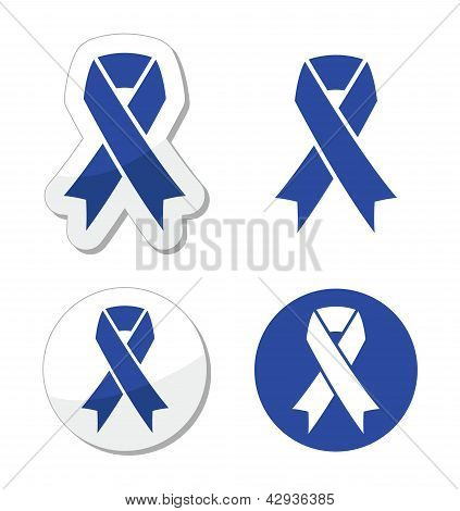blue, navy, ribbon, child abuse, prevention, drunk driving, colon cancer, acute respiratory distress