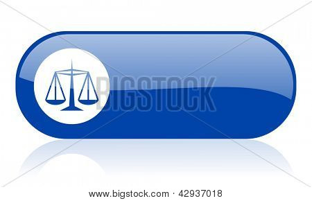 justice blue web glossy icon