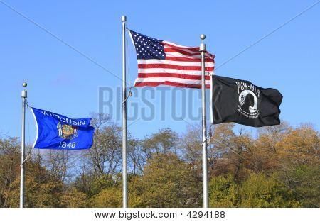 EUA - Wisconsin e sinalizadores de Pow