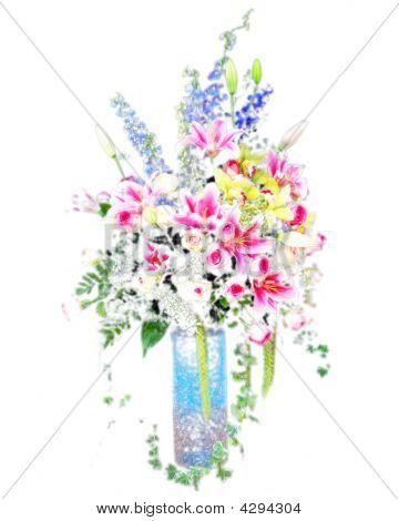 Soft Flower In Digital Painting