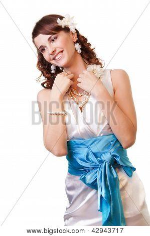Happy Bride With Amazing Smile