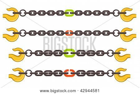 Vector Illustration Set Of Chains