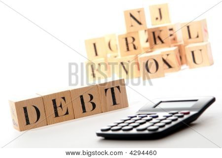 Debt Puzzle Blocks And Calculator