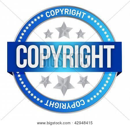Carimbo com o texto de Copyright