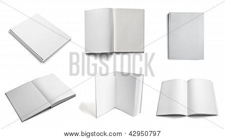 Leaflet Notebook Textbook White Blank Paper Template
