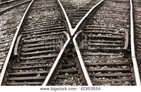 Confusing  old railway tracks