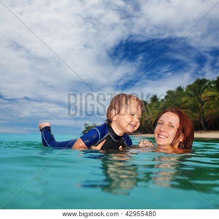 Teaching Baby To Swim