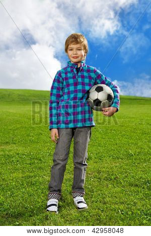 Cute Confident Boy With Ball