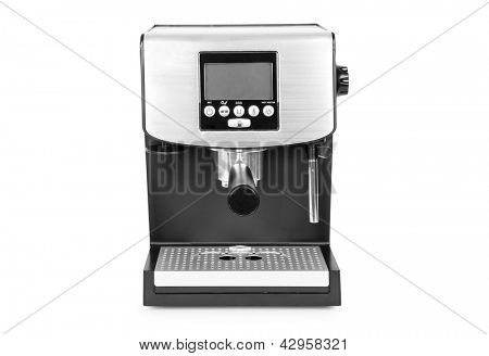 isolated coffee maker on a white background