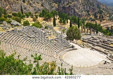 Ruins Of The Ancient City Delphi, Greece