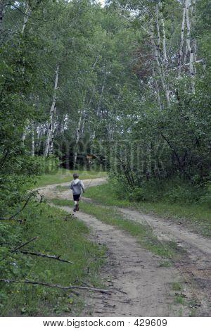 Boy On Path
