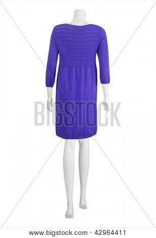 stylish purple dress on mannequin