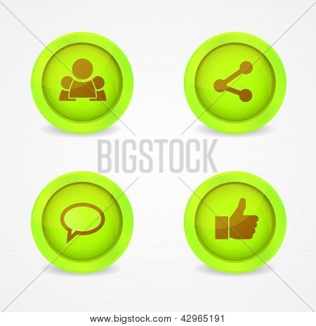 Vector glossy icons