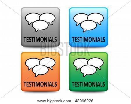 Testimonials buttons