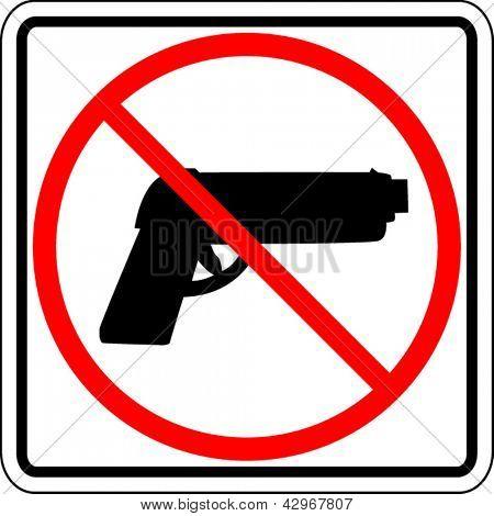 Guns prohibited sign