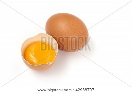 egg yolk and whole egg