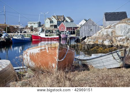 The small fishing village and tourism destination of Peggy's Cove, Nova Scotia, Canada.