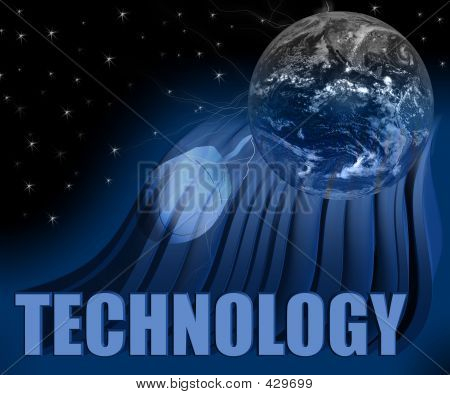 Technology 3d Globe And Mouse