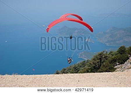 Paragliding in Oludeniz, Fethiye, Turkey