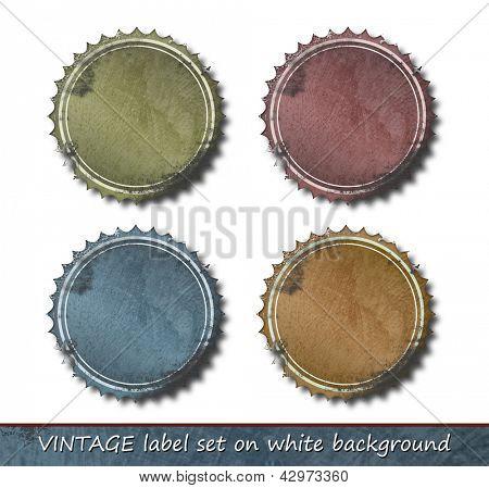 Vintage label set - retro frame border - grunge label collection against white background