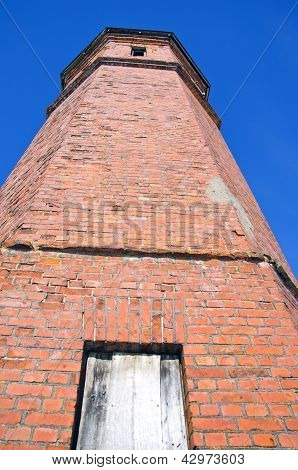 Historical Red Bricks Tower In Old Train Station