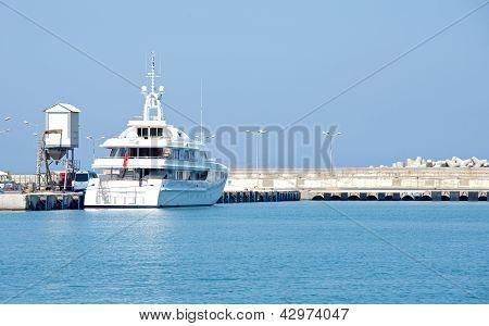 Yacht on the dock