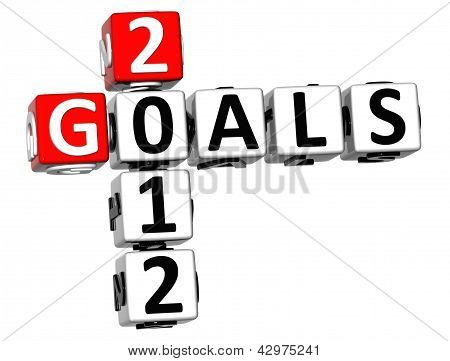3D Goals 2012 Crossword