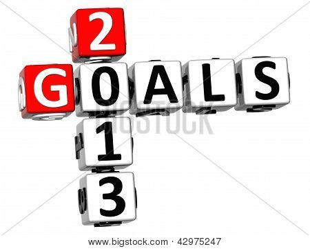 3D Goals 2013 Crossword