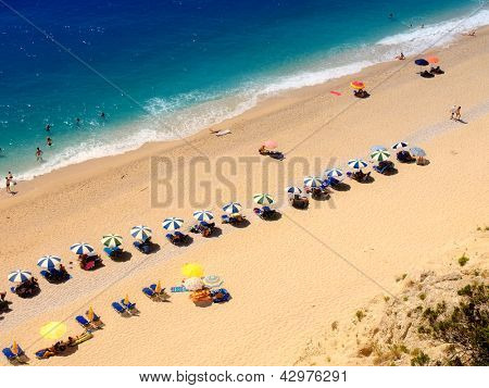 Egremni beach at Lefkada, Ionion sea, Greece
