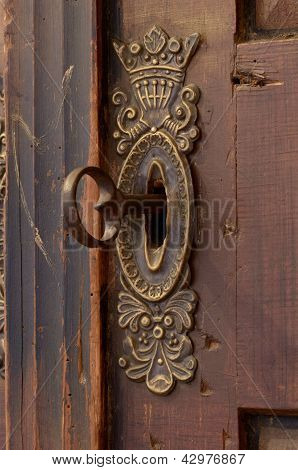 Old Keyhole With Key