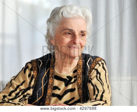 Portrait Of A Senior Woman Thinking