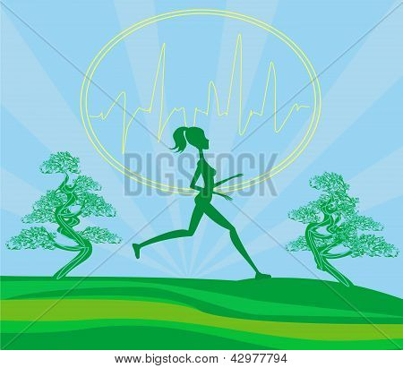 Jogging Girl - Card