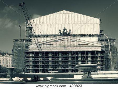 Teatro Bolshoi em grande reparação