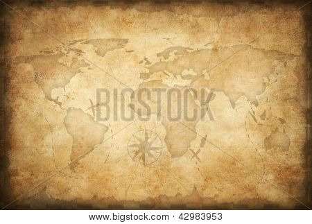 aged treasure map background
