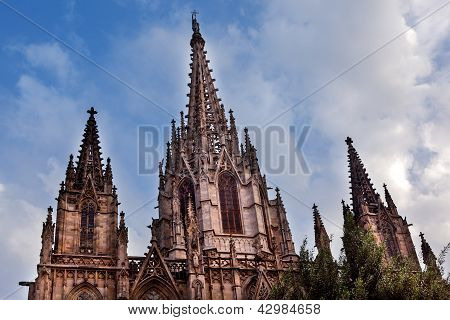 Gothic Catholic Cathedral Barcelona Catalonia Spain