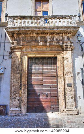 Cardoli palace. Narni. Umbria. Italy.