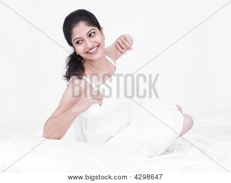 Beautiful Woman In Her Negligee